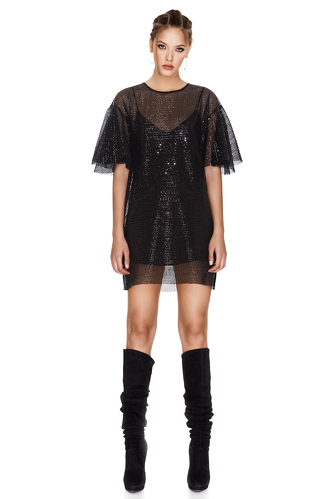 Black Sequins Mini Dress - PNK Casual