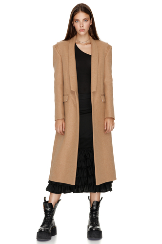 Soft Brown Midi Coat - PNK Casual