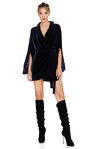 Bleumarine Velvet Wrap Dress