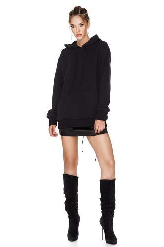 Black Hooded Sweatshirt - PNK Casual