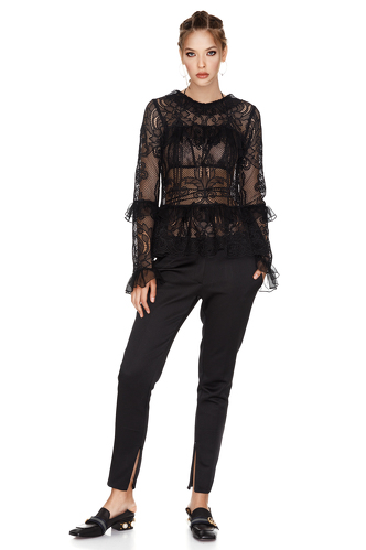 Black Lace Blouse - PNK Casual