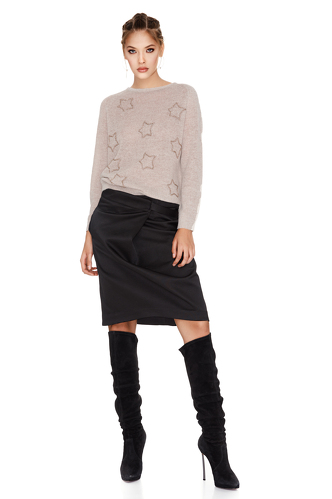 Black Midi Skirt - PNK Casual
