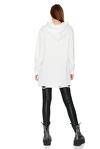 Oversize White Hooded Sweatshirt