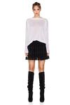 Black Silk Mini Skirt