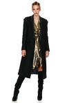 Soft Black Midi Coat