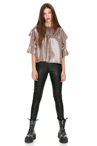 Skinny Black Leather Pants - PNK Casual