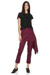 Burgundy Skirt Layered Pants