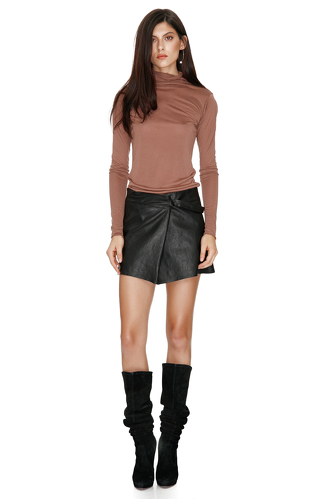 Brown Turtleneck Sweater - PNK Casual