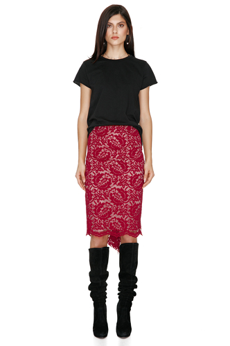 Red Lace Skirt - PNK Casual