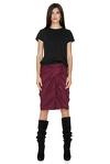 Burgundy Ruffled Skirt