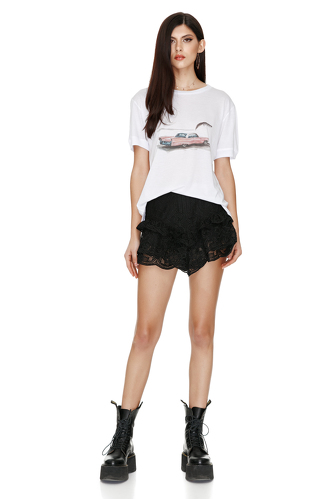 Oversize Printed Cotton Jersey T-shirt - PNK Casual