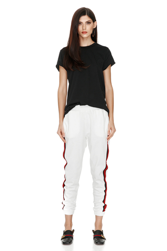 White Track Pants - PNK Casual
