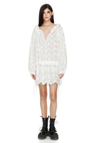 Embroidered Ruffled Mini Dress - PNK Casual