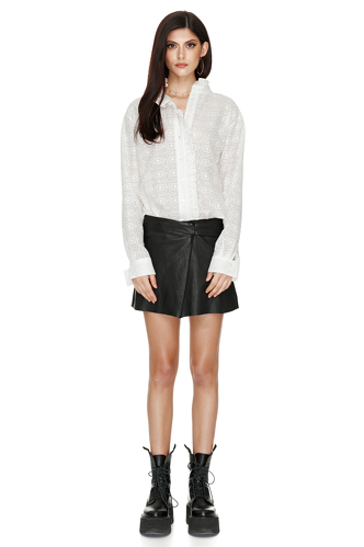 Highneck Embroidered Shirt - PNK Casual