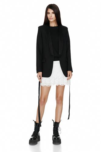 Black Wool-Silk Blazer - PNK Casual