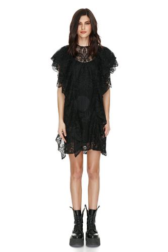 Black Lace Ruffled Dress - PNK Casual