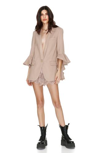 Beige Virgin Wool Blazer - PNK Casual