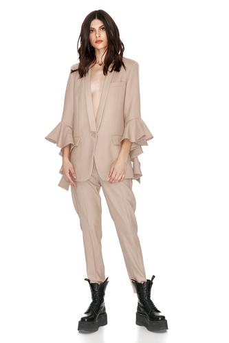 Beige Wool Pants - PNK Casual