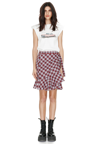 Wrap Cotton Mini Skirt - PNK Casual