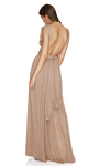 Nude Silk Tulle Gown