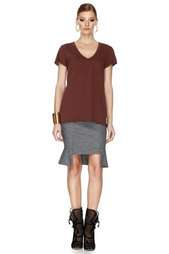 Burgundy T-shirt - PNK Casual