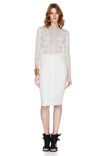 White Pencil Skirt - PNK Casual
