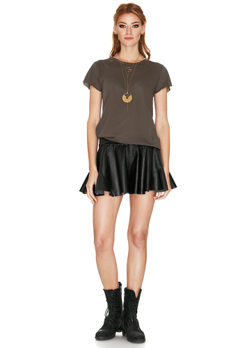 Black leather Shorts - PNK Casual