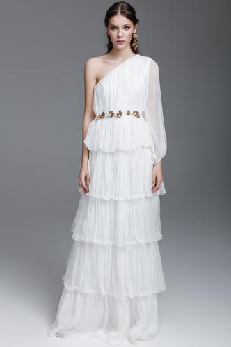 White Silk Long Dress - PNK Casual
