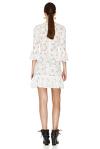 White Floral Lace Mini Dress