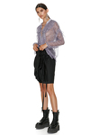 Black Asymmetric Folded Skirt