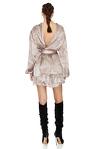 Backless Silk Mini Dress