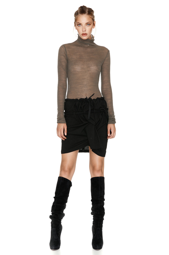 Kaki Wool Turtleneck Sweater - PNK Casual