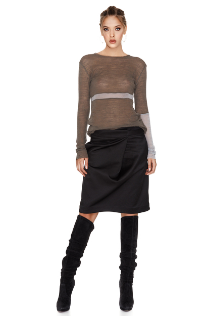 Bicolor Wool Sweater
