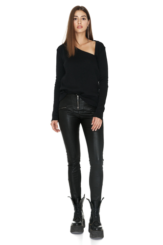 Black Rock Leather Pants - PNK Casual