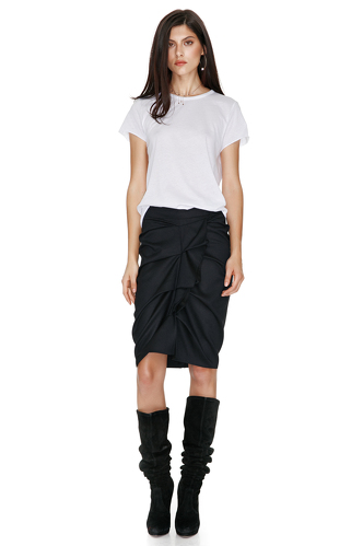 Black Ruffled Skirt - PNK Casual