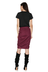 Burgundy Ruffled Skirt