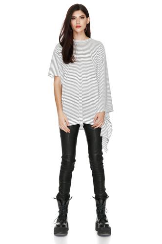 Striped Cotton Blouse - PNK Casual