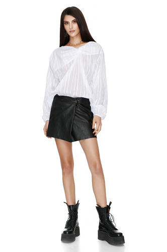 Knotted White Shirt - PNK Casual