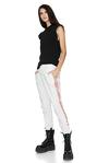 Printed White Track Pants