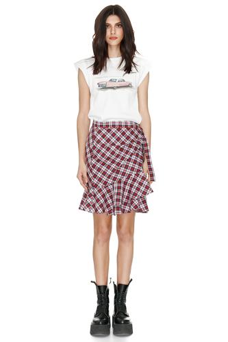 Wrap Cotton Mini Skirt - PNK Casual