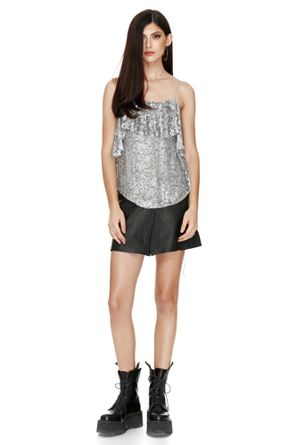 Sequin Ruffled Top - PNK Casual