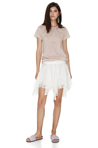 Beige Basic T-shirt - PNK Casual