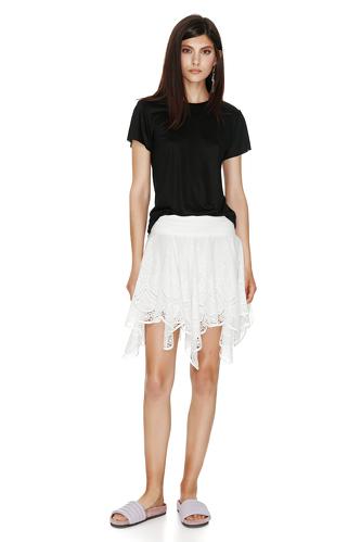 Black Viscose Basic T-shirt - PNK Casual