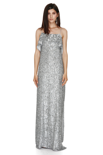 Backless Sequin Maxi Dress - PNK Casual