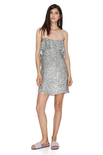 Backless Sequin Mini Dress - PNK Casual