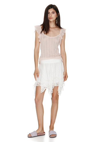 Rose tank with ruffles sleeves - PNK Casual