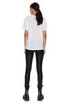 White Oversize Printed Cotton Jersey T-shirt