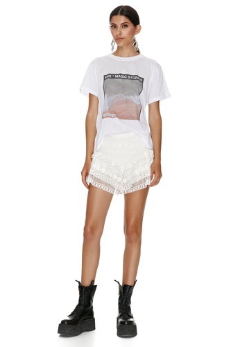 Oversize Printed Cotton T-Shirt - PNK Casual