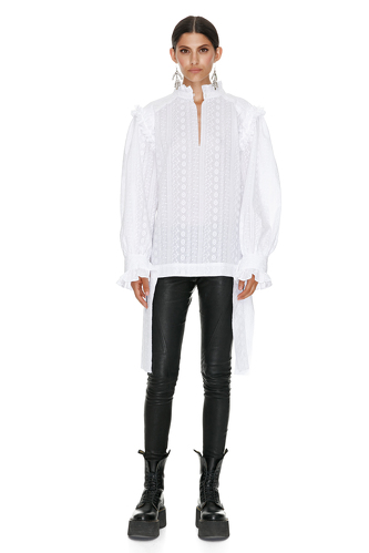 White Bohemian Cotton Shirt - PNK Casual