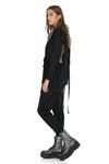 Black Cutout Wool Blazer